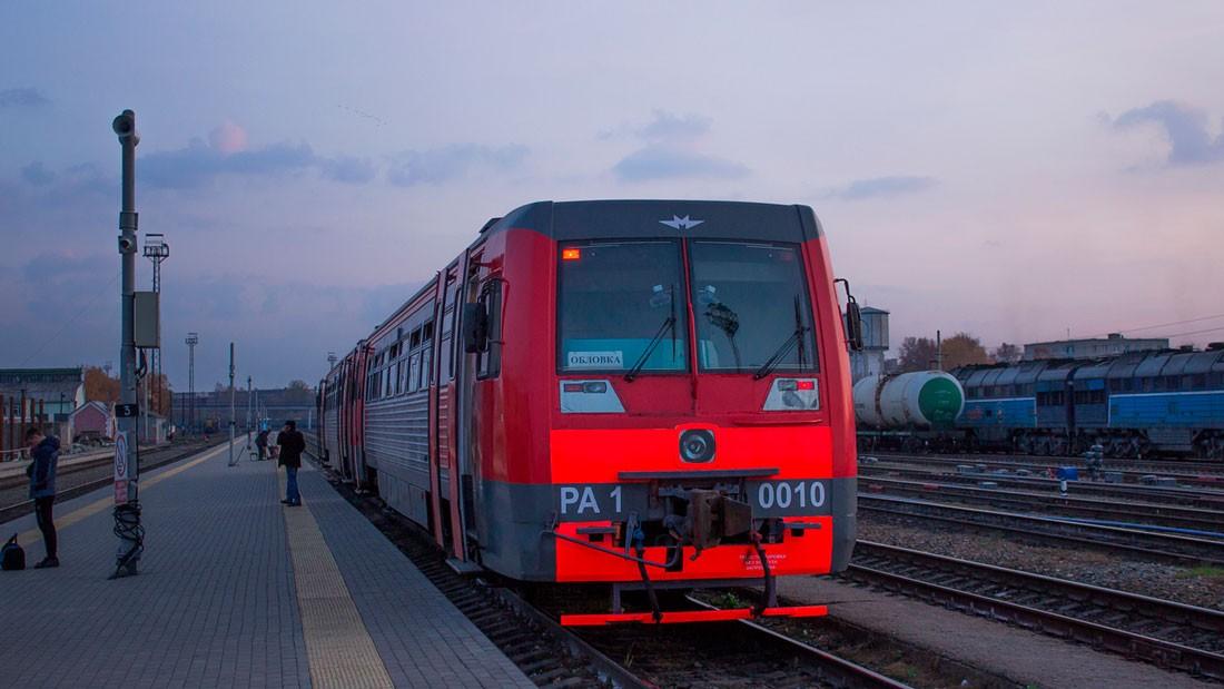 Рельсовый автобус РА1 на станции в Тамбове
