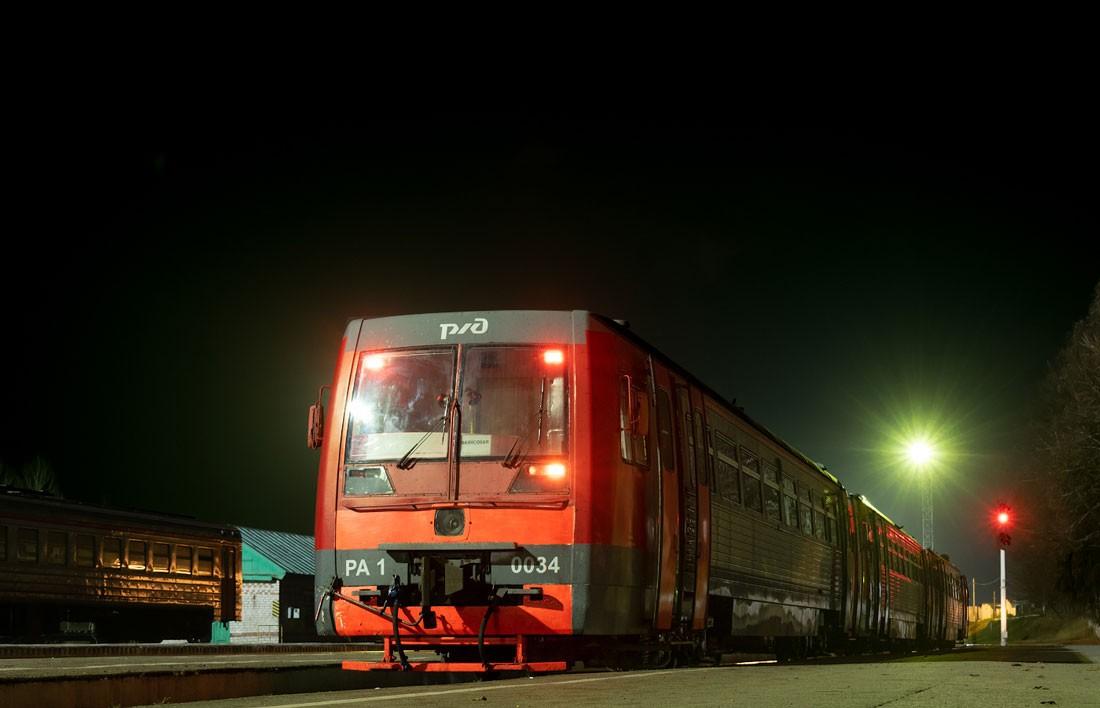 Рельсовый автобус РА1 на станции Фаянсовой