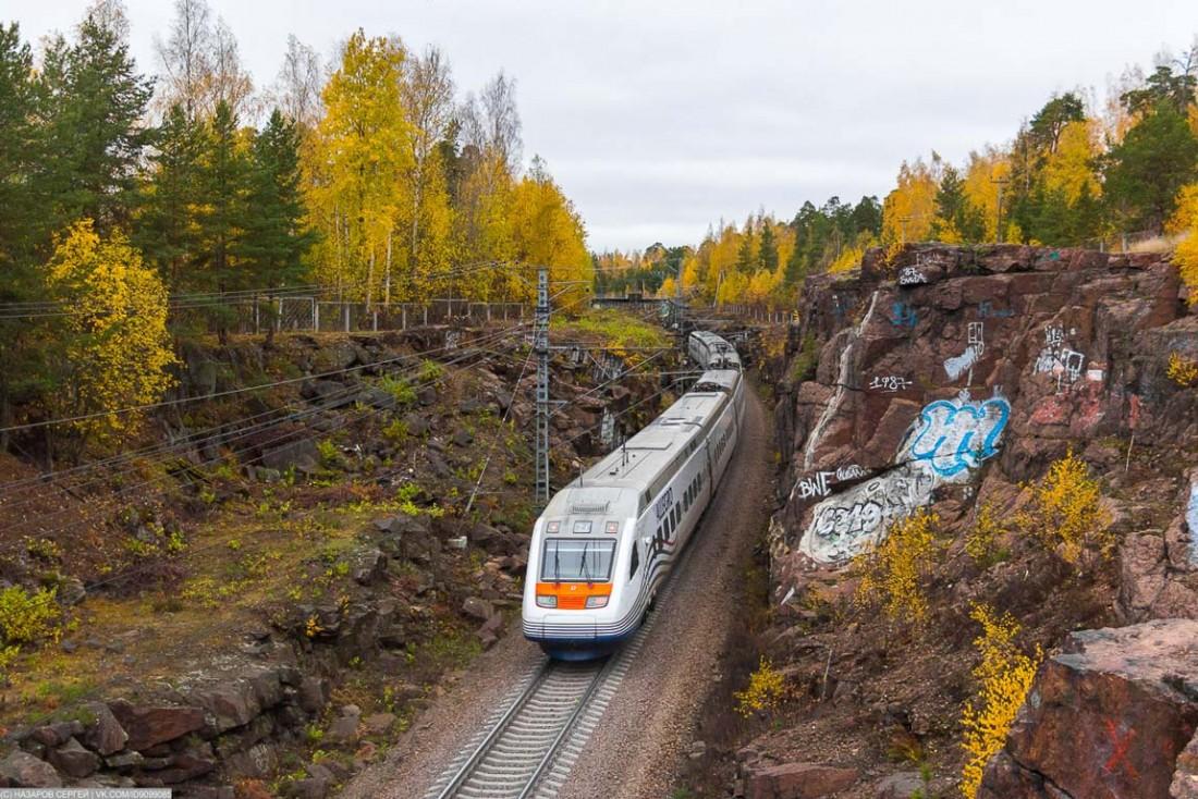 Поезд Allegro, перегон Выборг – Пригородная