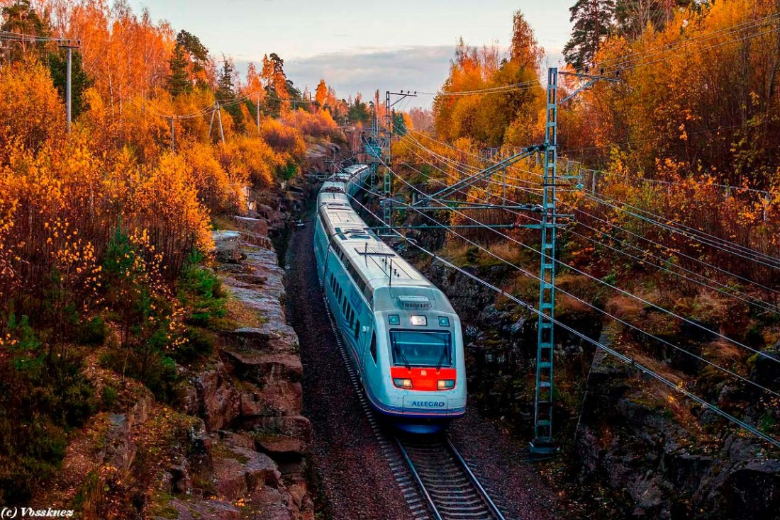 Поезд SM6, маршрут Санкт-Петербург – Хельсинки