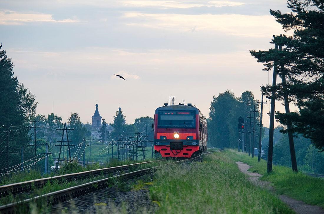 Дизель электропоезд ДТ1 в Ленинградской области