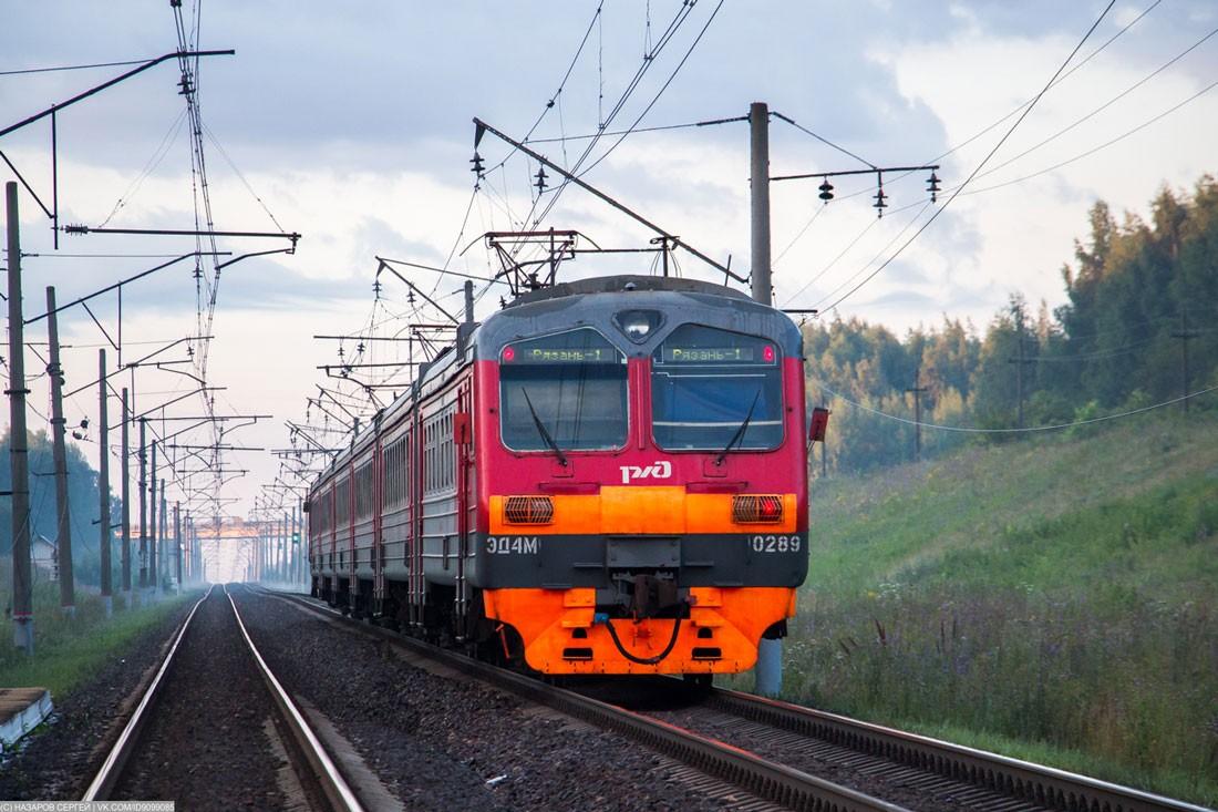 Электричка ЭД4М в Рязанской области