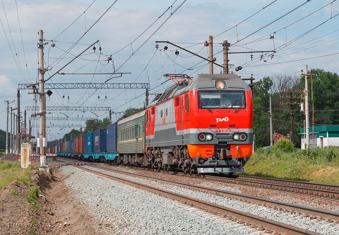 ЭП2К по пути в Москву