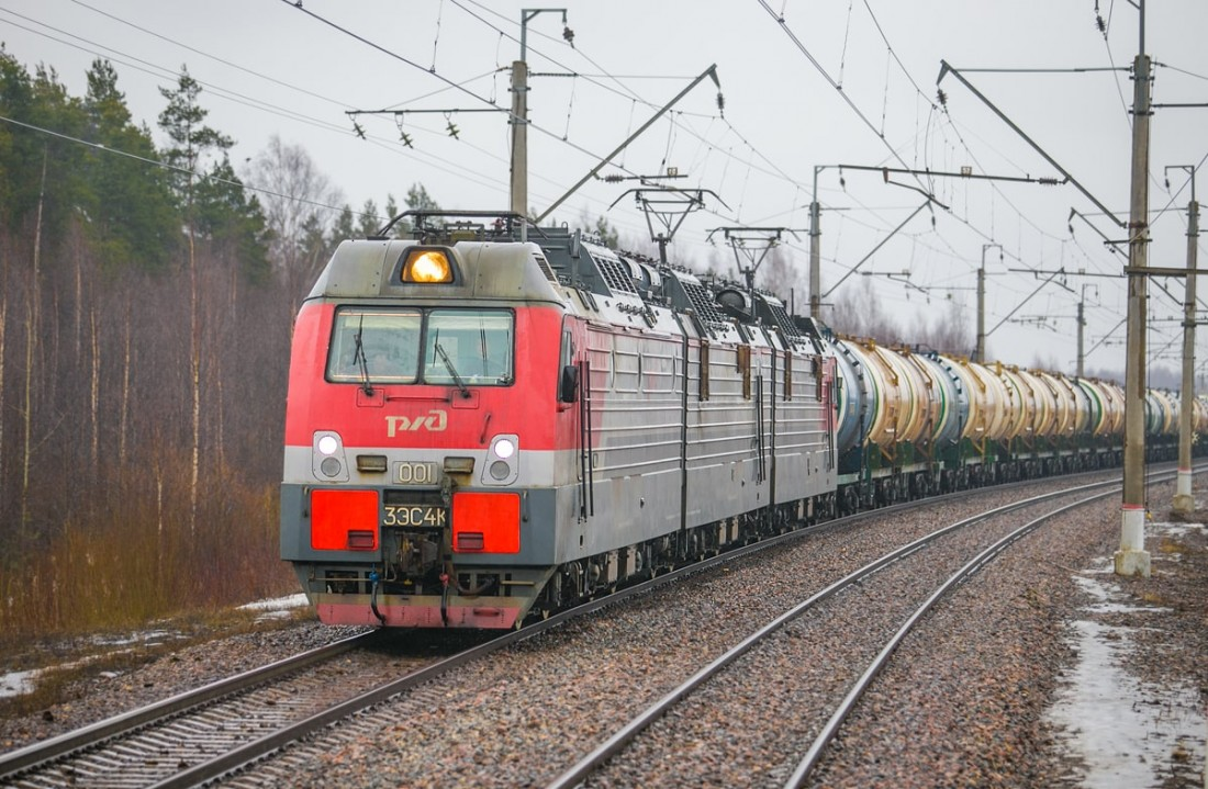 Электровоз 3ЭС4К. перегон Саперная - Пелла