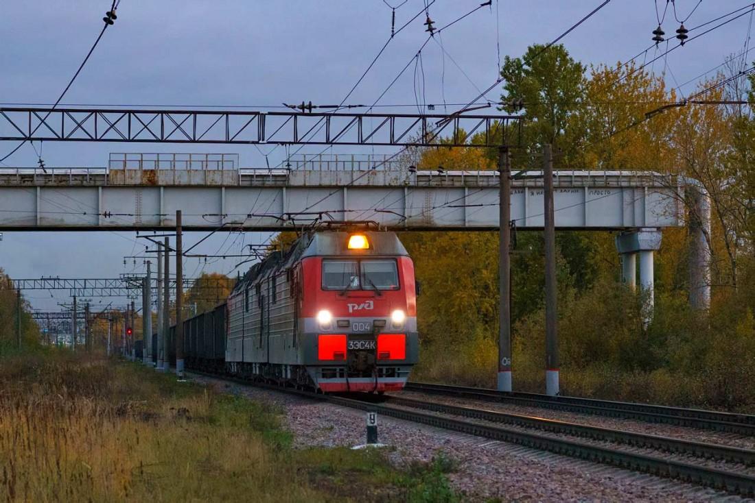 Электровоза 3ЭС4К. Станция Ручьи