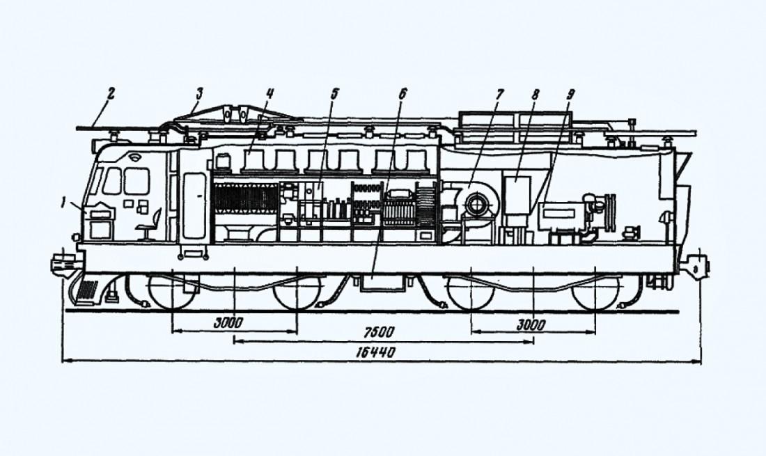 Схема электровоза ВЛ11