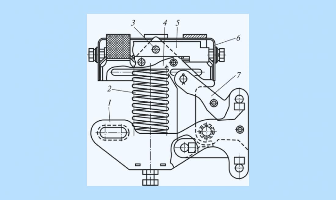 Схема каретки токоприемника