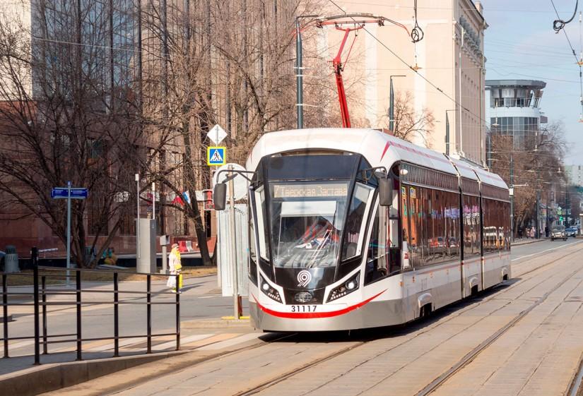 Токоприемник на трамвае Витязь М