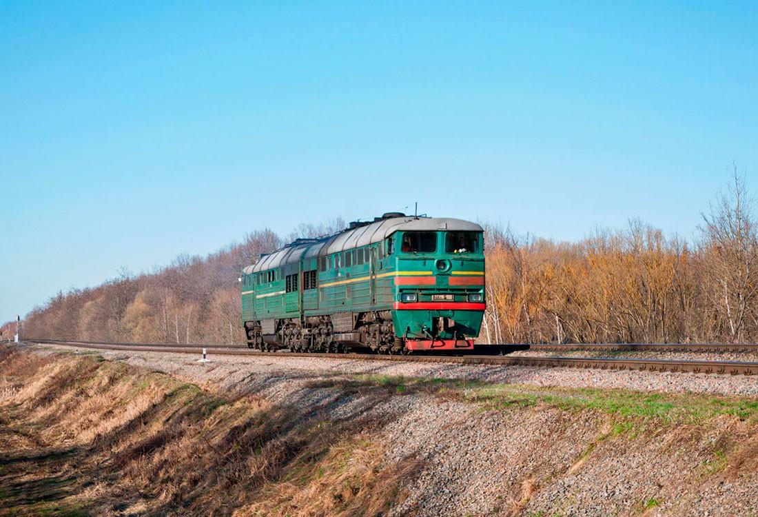 Тепловоз 2ТЭ116. Украина, Житомирская область, перегон Сокорики — Коростень-Подольский