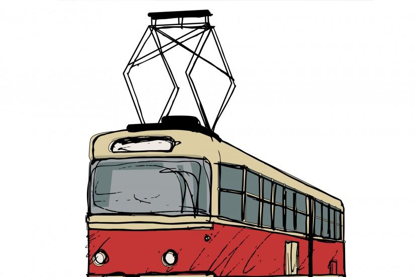Пантографный токоприемник на трамвае