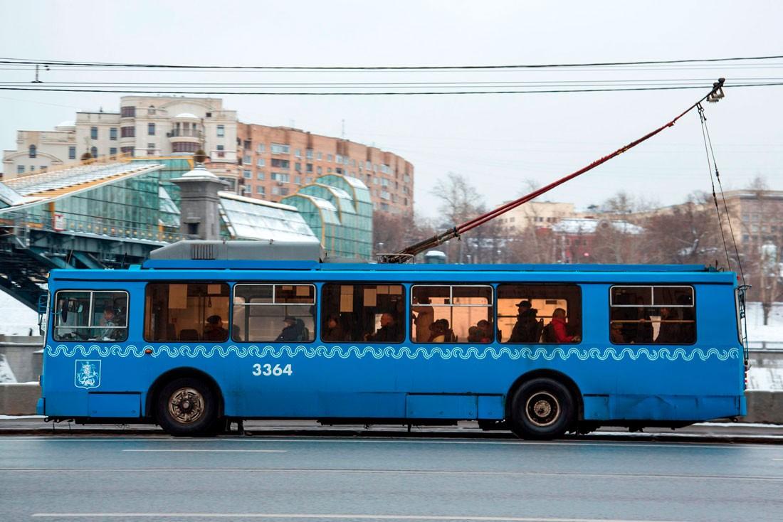 Штанговый токоприемник на троллейбусе