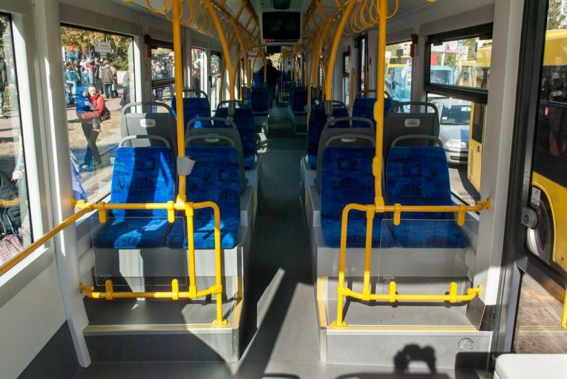 Кабина трамвая Pesa