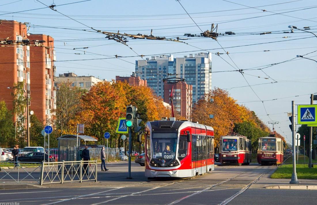 Трамвай 71-923М (Богатырь М) в Санкт-Петербурге