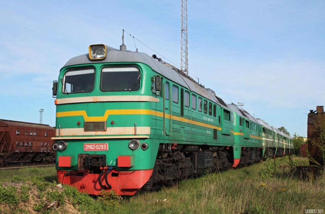 Тепловоз 2М62 в депо Риги